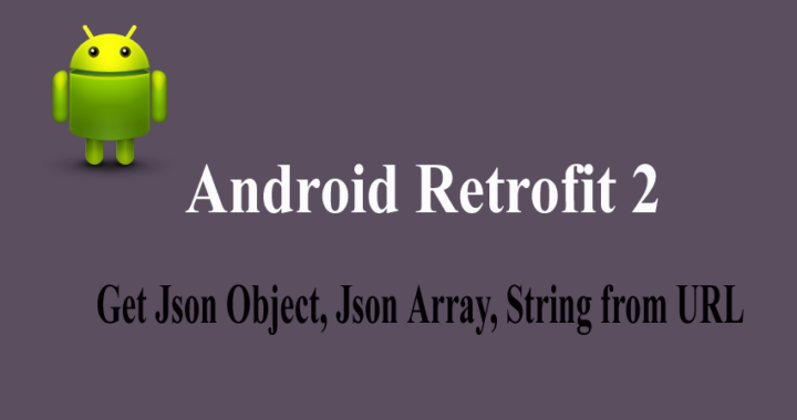 android retrofit example json